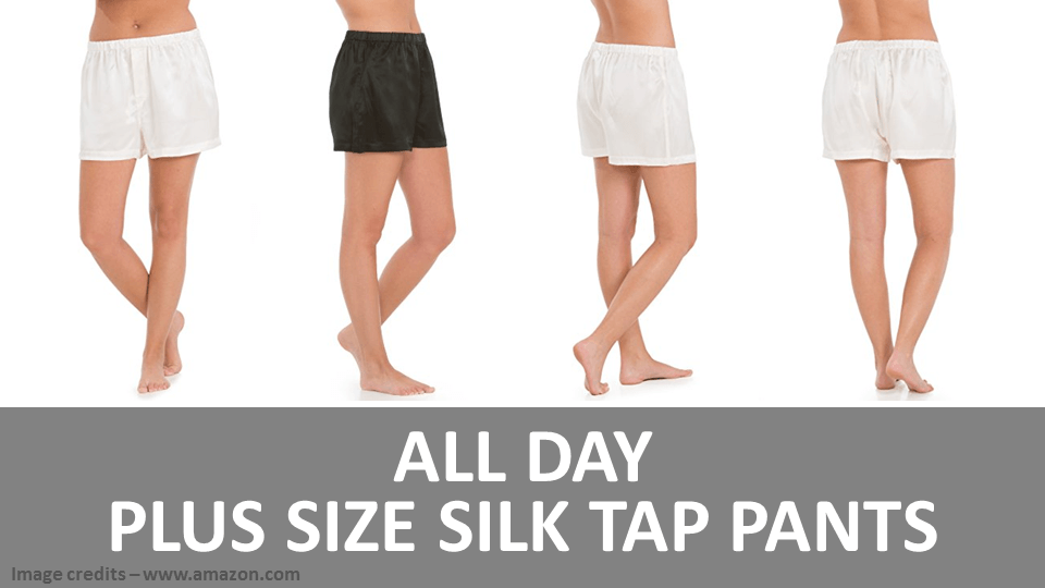 All Day Plus Size Silk Tap Pants