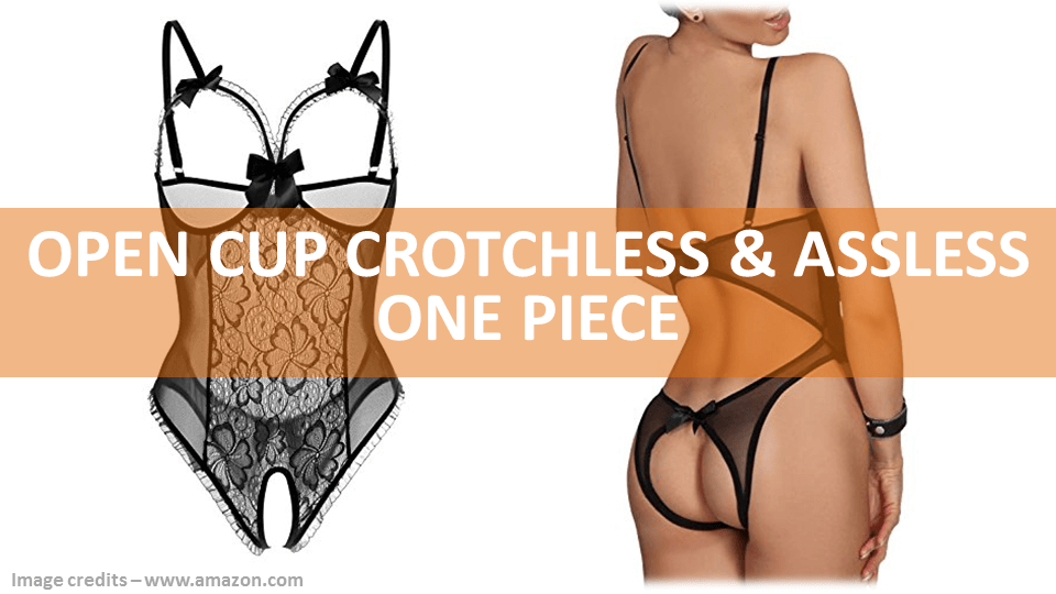 Assless Lingerie Open Cup Crotchless One Piece