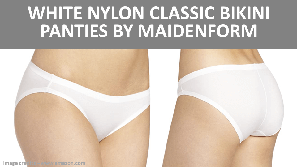 Bikini - White Nylon Classic Bikini Panties by Maidenform Image