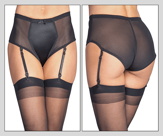 Black Gaff Panty Briefs - With Garters Image 50
