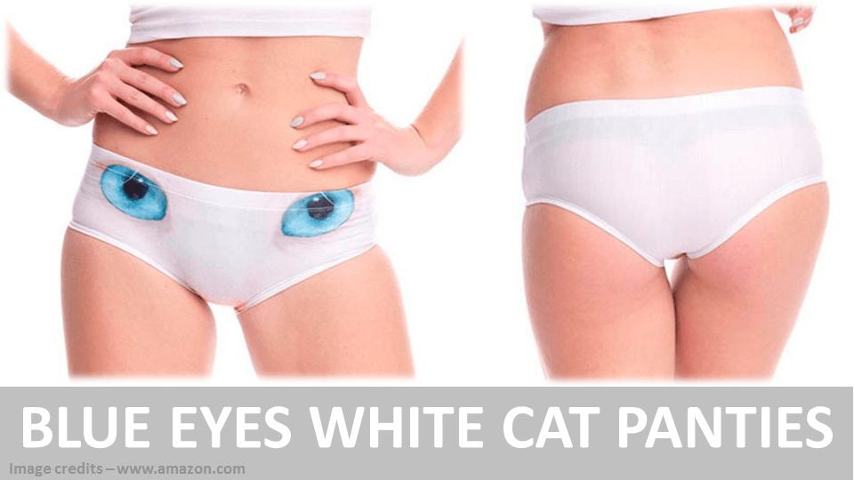 Blue Eyes White Cat Panties