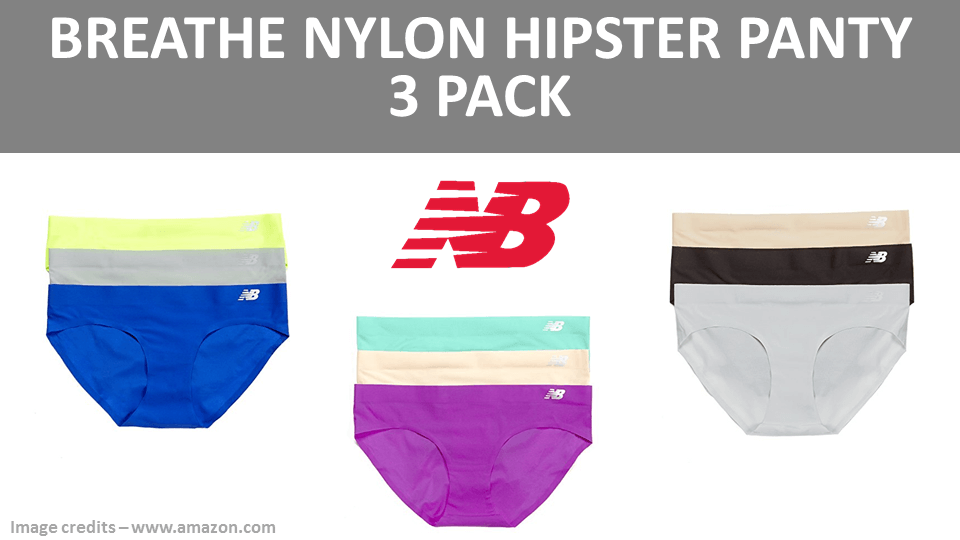 Breathe Nylon Hipster Panty 3 Pack