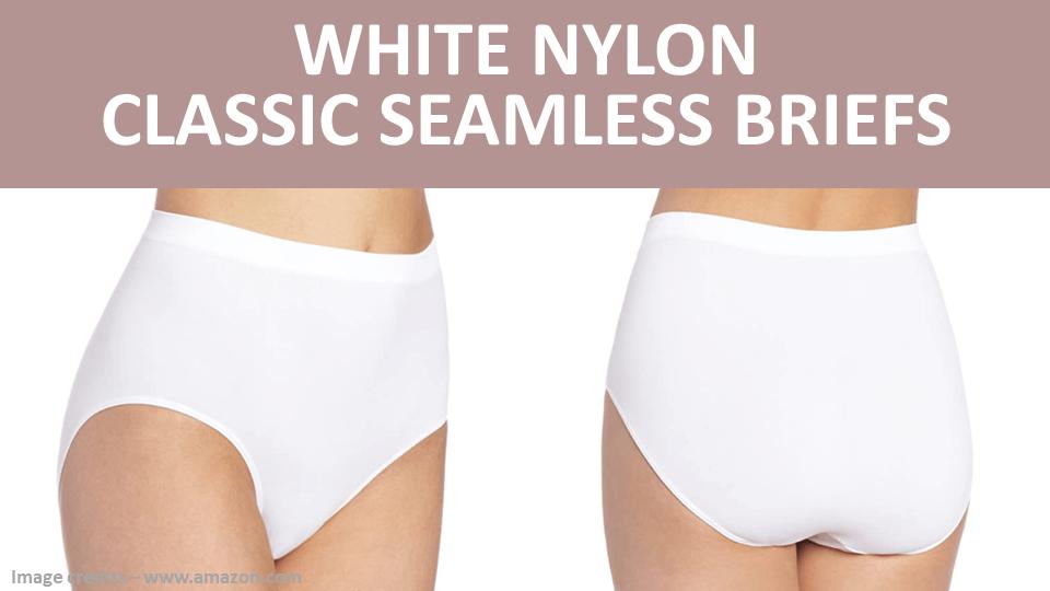 Briefs - White Nylon Classic Seamless Briefs Image