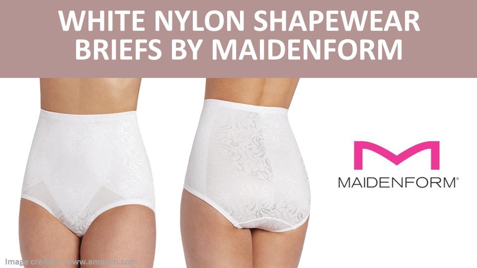 Briefs - White Nylon Shapewear Briefs by Maidenform Image