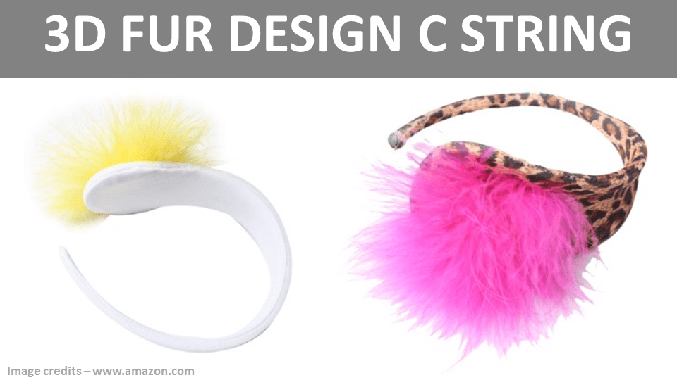 C String Panties - 3D Fur Design