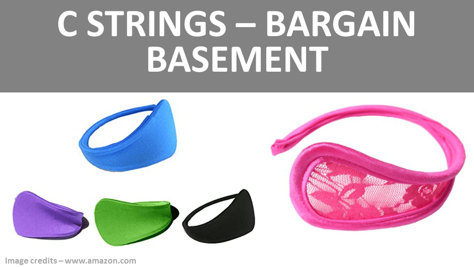 C String Panties - Bargain Basement