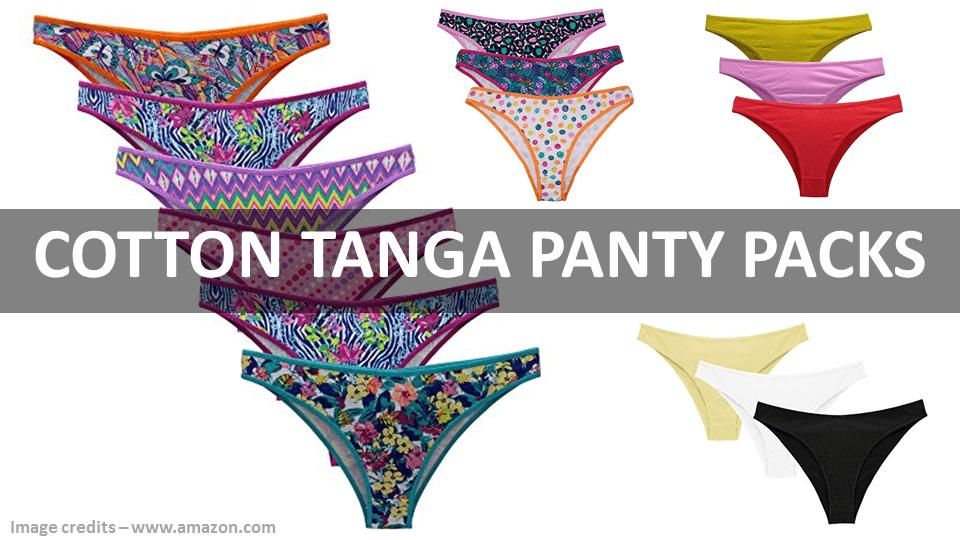 Cotton Tanga Panty Packs