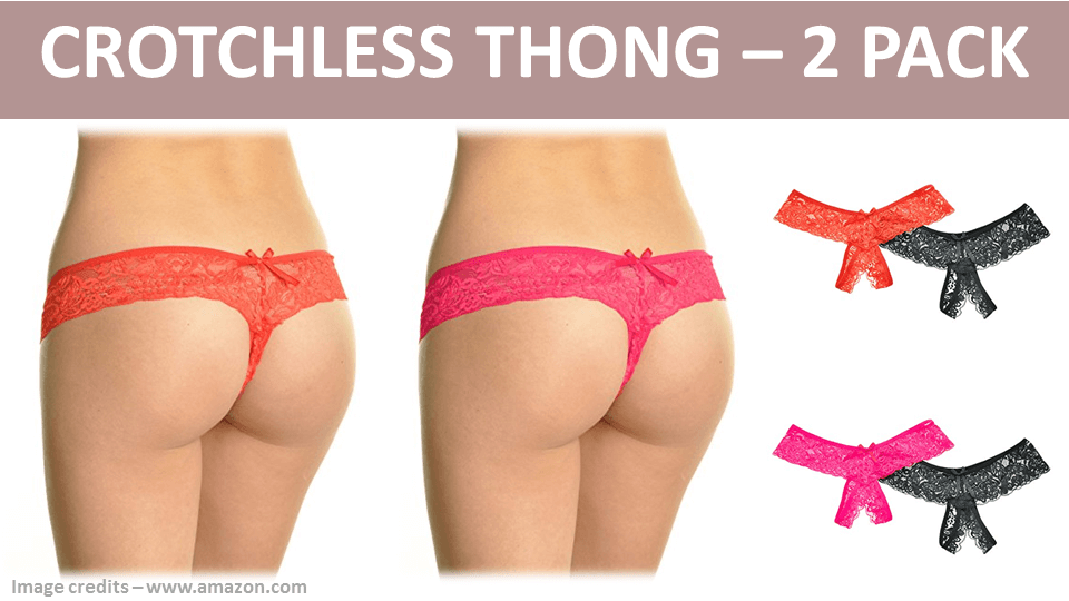 Crotchless Thong - 2 Pack