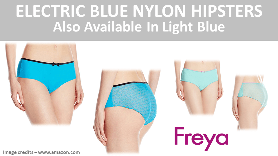 Electric Blue Nylon Hipsters