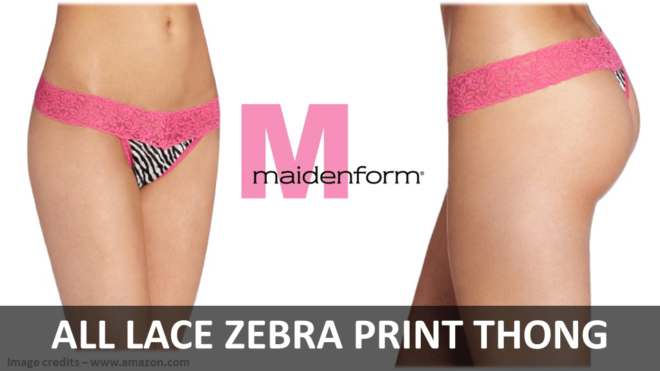 Fancy Panties - All Lace Zebra Print Thong By Maidenform