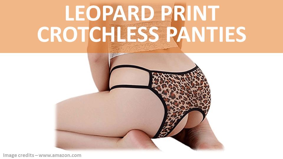 Fancy Panties - Leopard Print Crotchless
