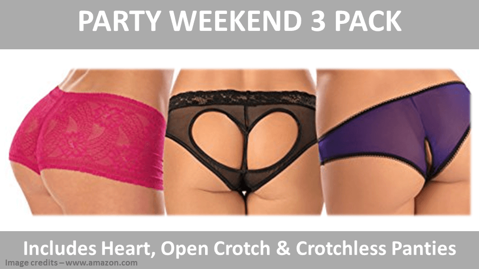 Fancy Panties - Party Weekend 3 Pack By Escante