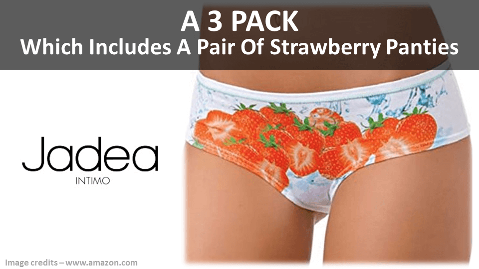 Fancy Panties - Strawberry 3 Pack By Jadea