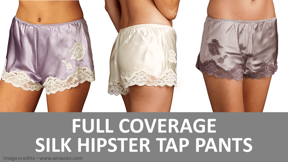 Full Coverage Silk Hipster Tap Pants