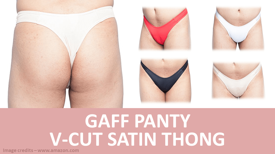 Gaff Panty V Cut Satin Thong