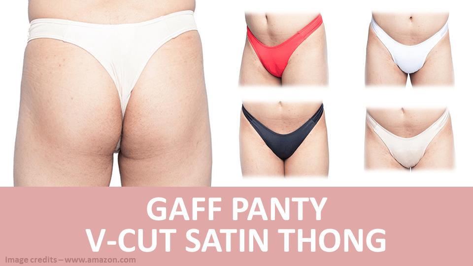 Gaff Panty V Cut Satin Thong