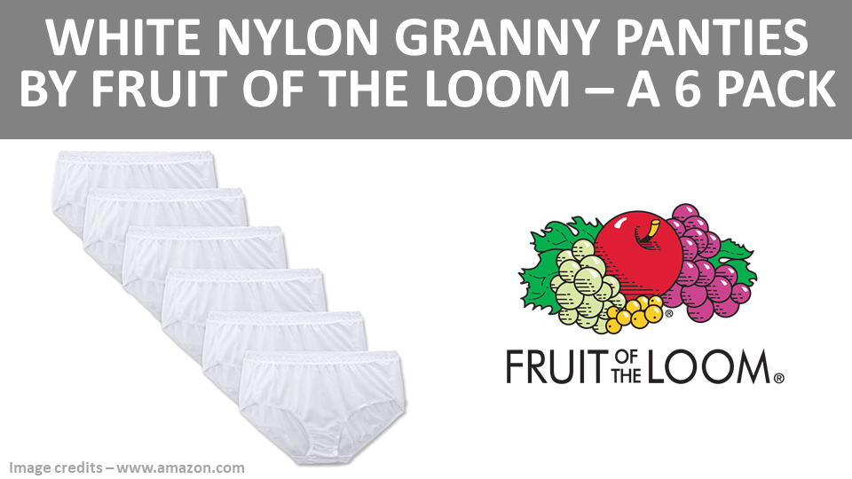Granny - White Nylon Granny Panties by Fruit Of The Loom - A 6 Pack Image