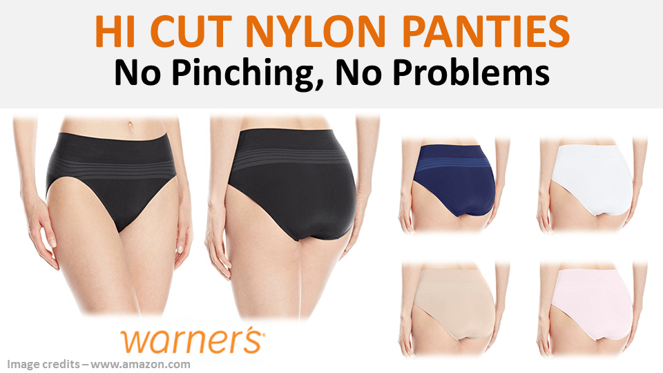 Hi Cut Nylon Panties Warners