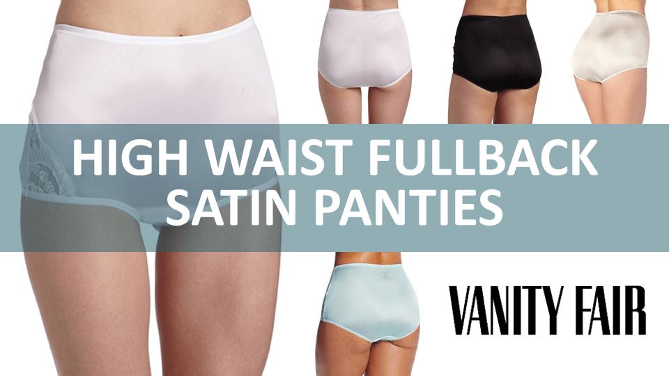 High Waist Fullback Satin Panties