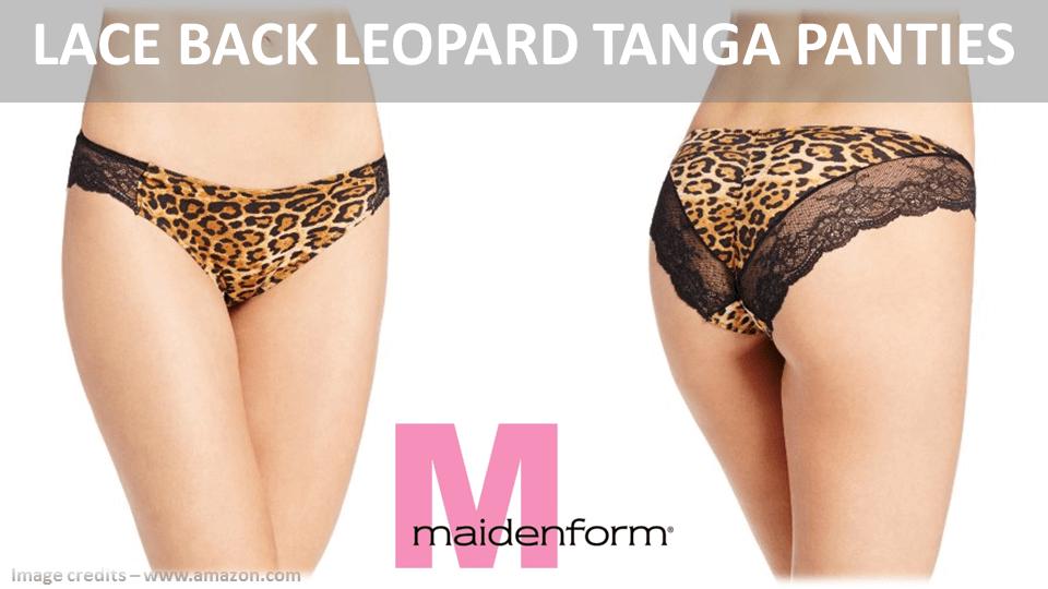 Lace Back Leopard Tanga Panties