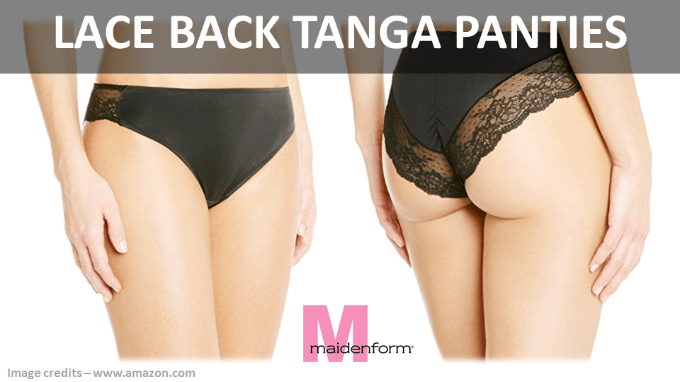 Lace Back Tanga Panties