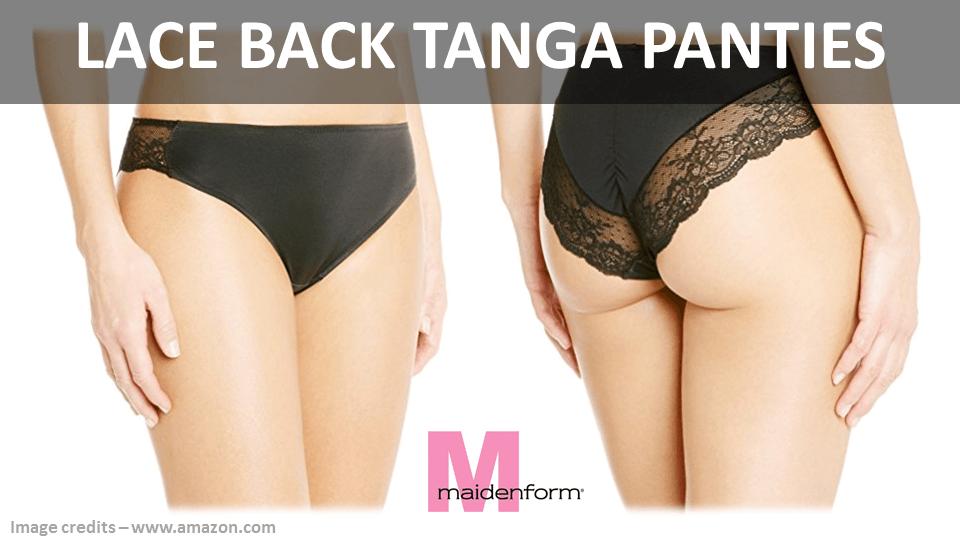 Lace Back Tanga Panties