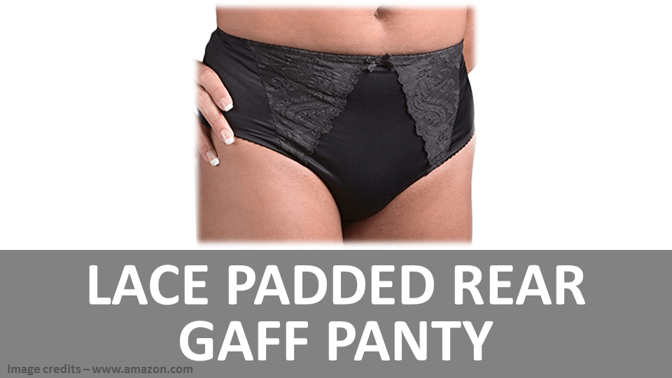 Lace Padded Rear Gaff Panty