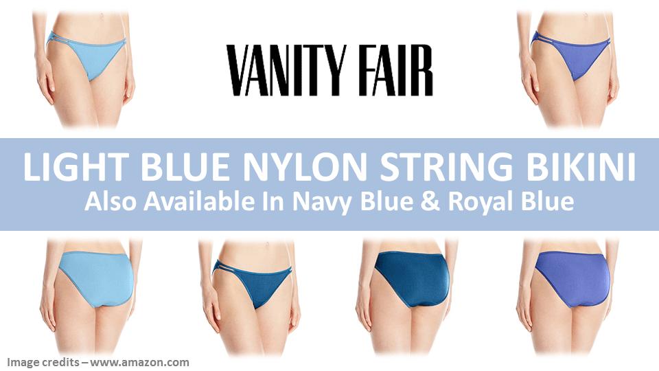 Light Blue Nylon String Bikini