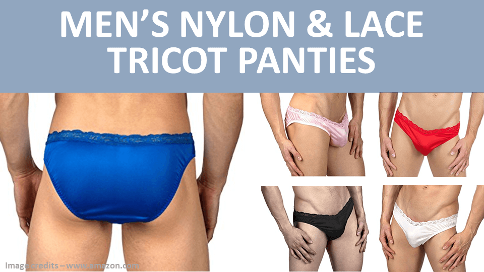 Mens Nylon And Lace Tricot Panties