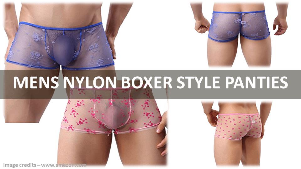 Mens Nylon Boxer Style Panties