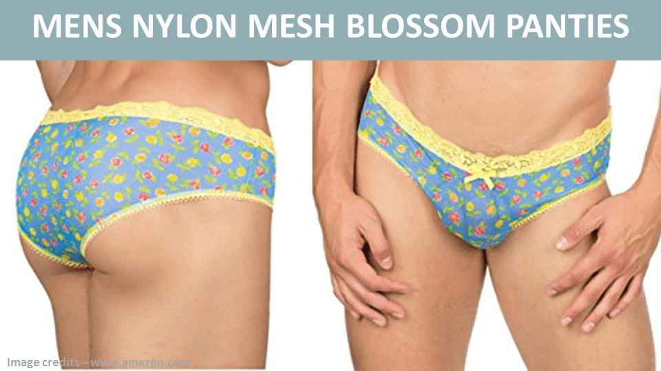 Mens Nylon Mesh Blossom Panties