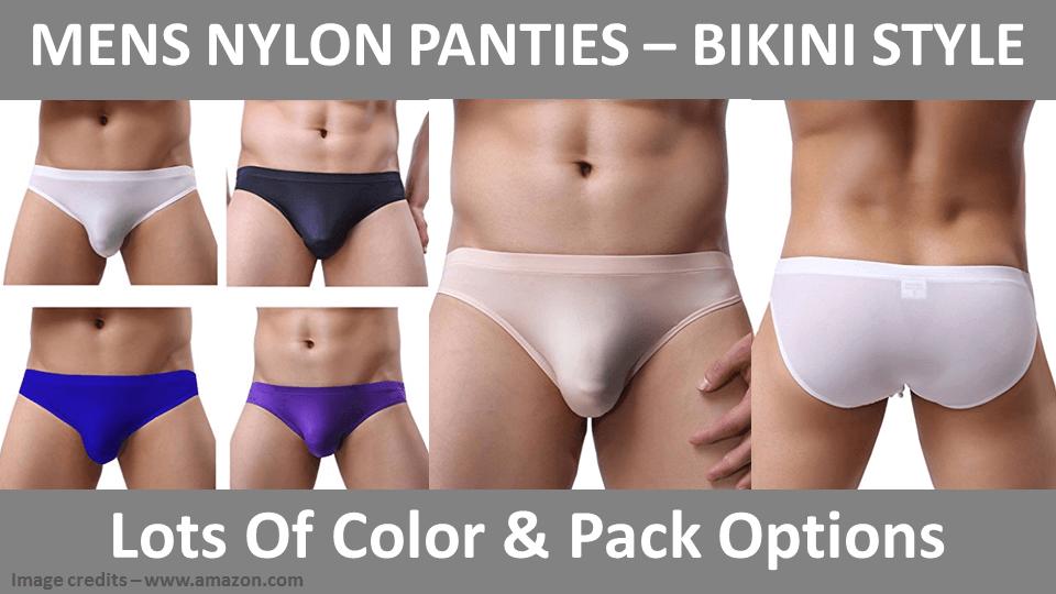 Mens Nylon Panties - Bikini Style