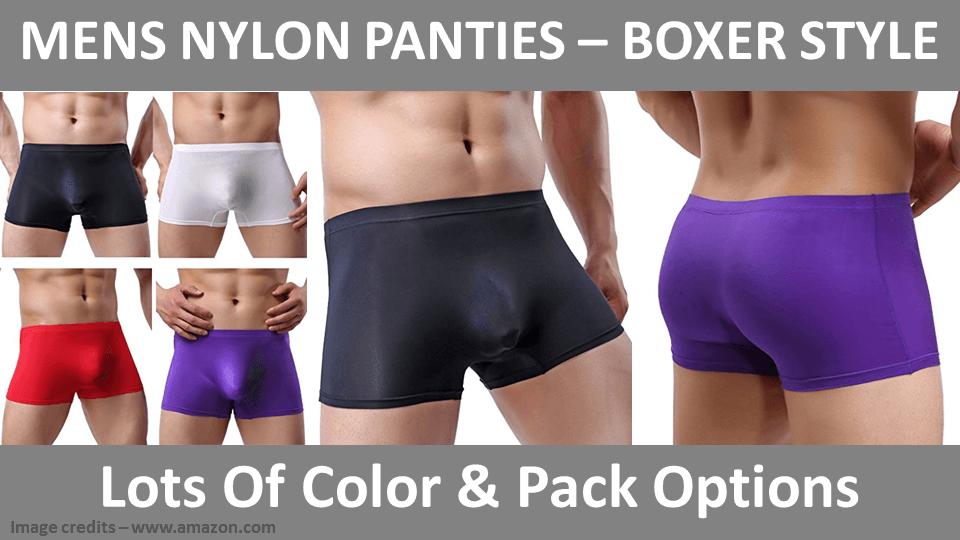 Mens Nylon Panties - Boxer Style