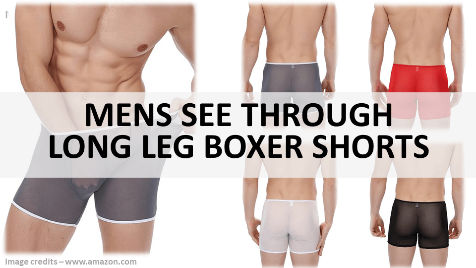 Mens See Through Long Leg Boxer Shorts