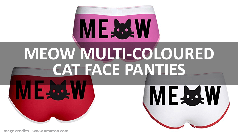 Meow Multi Coloured Cat Face Panties