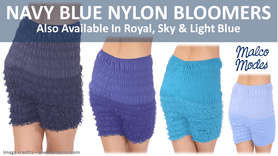 Navy Blue Nylon Bloomers