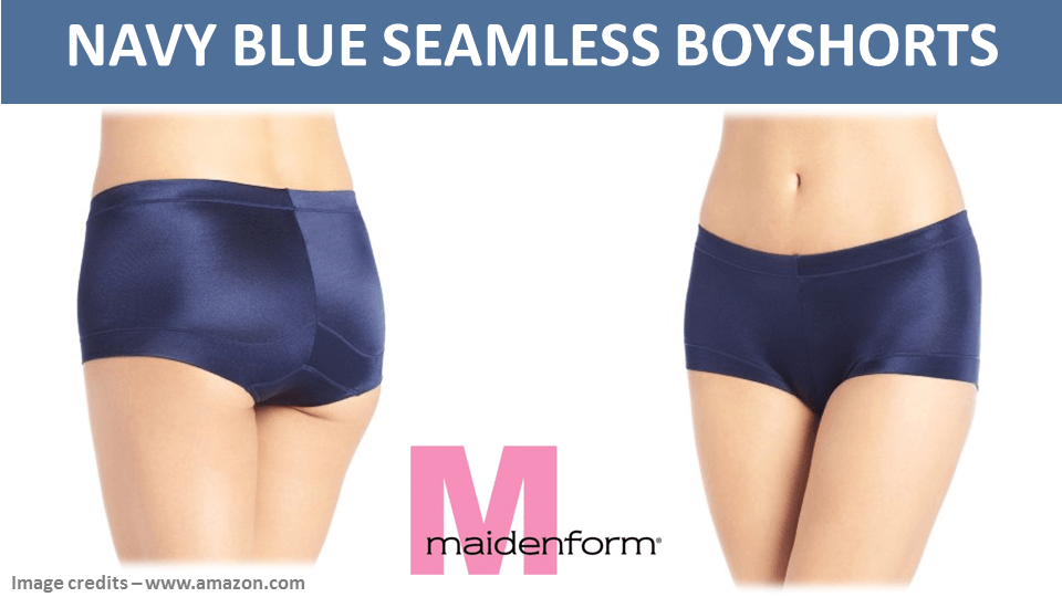 Navy Blue Seamless Boyshorts