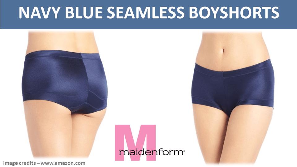 Navy Blue Seamless Boyshorts