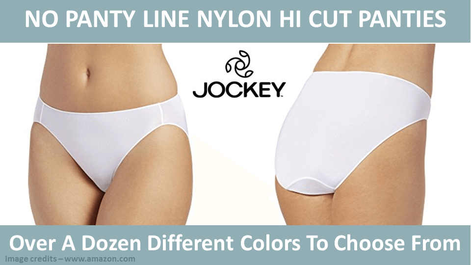 No Panty Line Nylon Hi Cut Panties Jockey