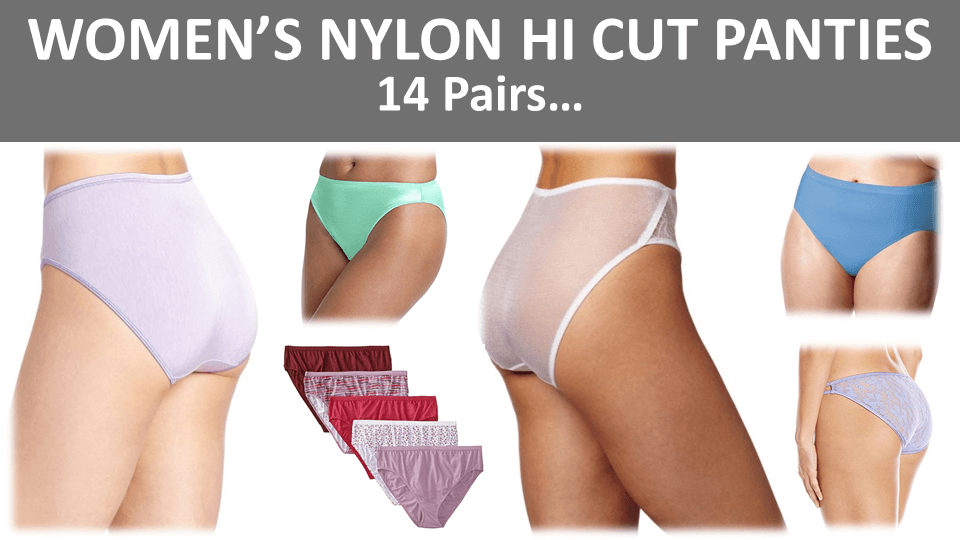 Nylon Hi Cut Panties Main