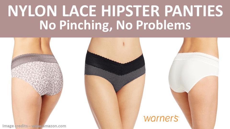 Nylon Lace Hipster Panties Warners