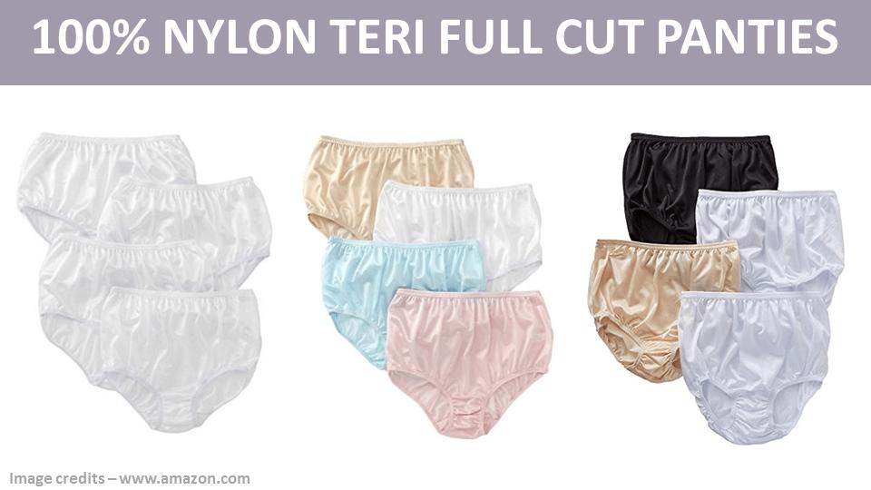 Nylon Teri Full Cut Panties