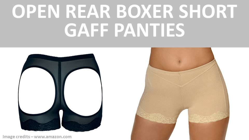 Open Rear Boxer Short Gaff Panties