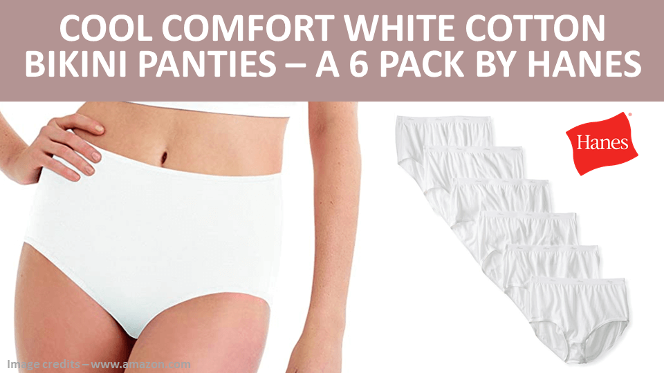 Pack - Cool Comfort White Cotton Bikini Panties - A 6 Pack by Hanes Image