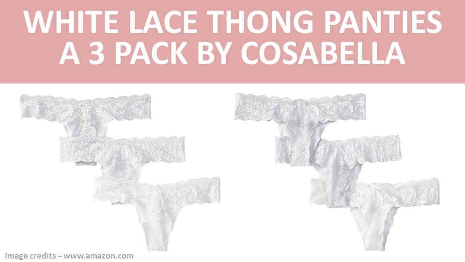 Pack - White Lace Thong Panties - A 3 Pack by Cosabella Image