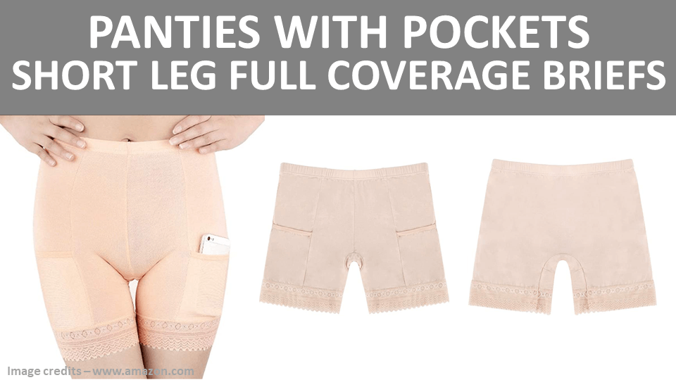Panties With Pockets - Short Leg Full Coverage Briefs