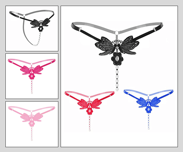 Pearl G-String - With Butterfly Image 50