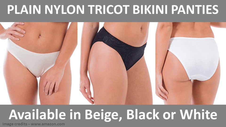 Plain Nylon Tricot Bikini Panties