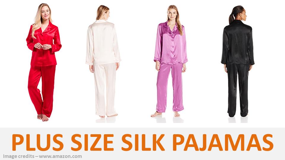 Plus Size Silk Pajamas