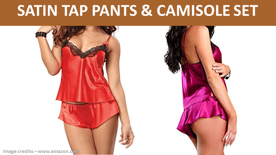 Satin Tap Pants And Camisole Set